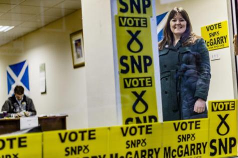 Natalie McGarry on the campaign trail